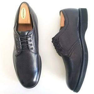 ALDEN Mens 311 Plain Toe Blucher Oxford Black Shoe